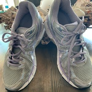 Asics Purple and Silver Running Shoes